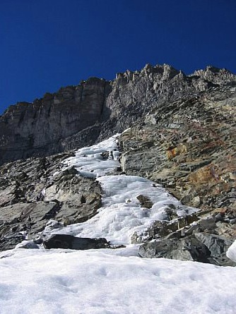 Small Ice Flow Near Dana Couloir
