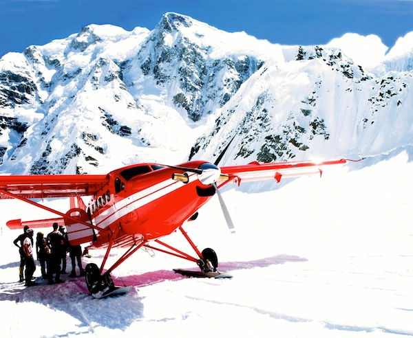 K2 Aviation on the Kahiltna glacier.