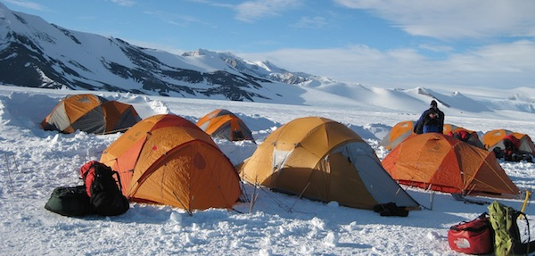 Climbing camp on Vinson.