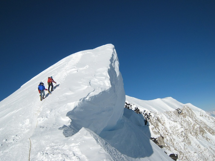 climbing denali guided mt mckinley expedition with aai mountain guide training school mountain guide training scotland