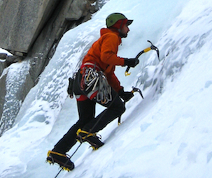Aai Guide Andrew Yasso Leads An Ice Route In Lee Vining