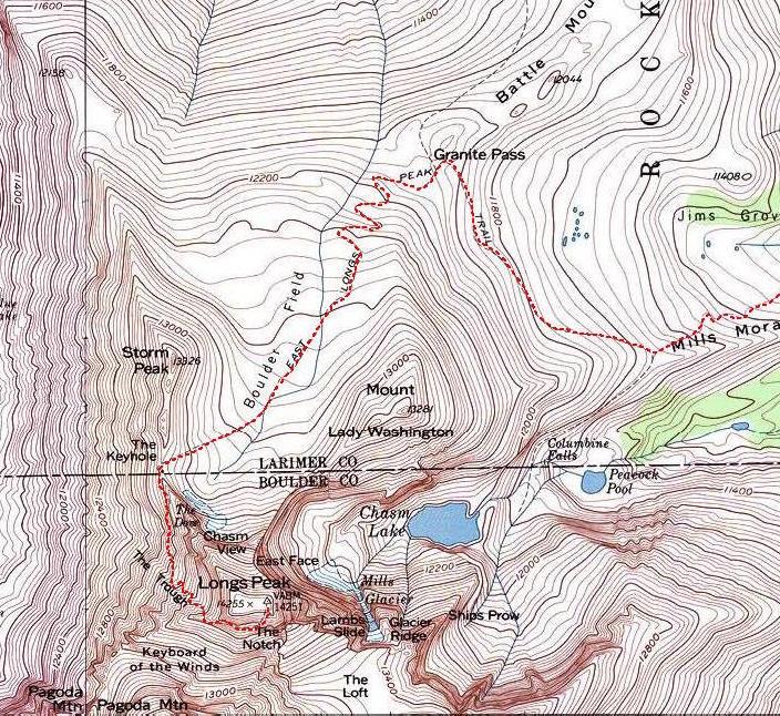 Longs Peak Hiking Climbing American Alpine Institute