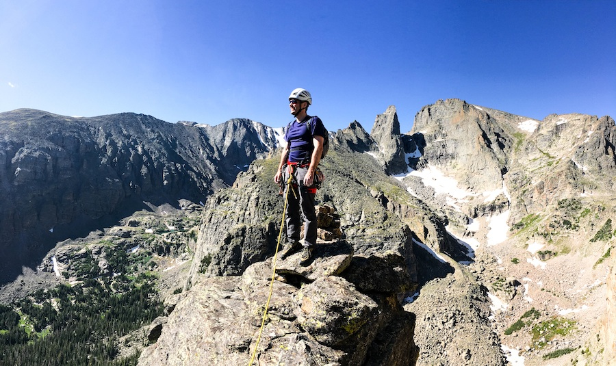 rock climbing mountaineering in rocky mountain national park
