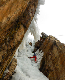 Ouray Ice Park Climber.