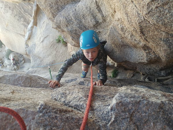 e6c8c638f552 A ten-year-old Cub Scout climbs Cyclops (5.5) in Joshua Tree National Park.  Jason Martin Link to image