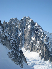 Italy's Boot Towers over the Pika Glacier.