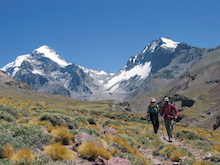 Descending from basecamp on Aconcagua.