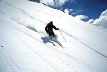 Skiing in the backcountry near Red Mountain Pass, Ouray, CO.