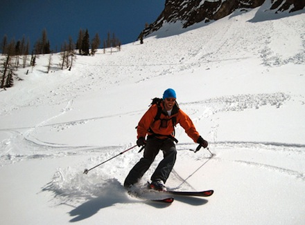 A skier in the North Cascades.