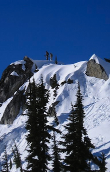 There are a number of minor summits in the Mount Baker backcountry that can be climbed by snowshoers