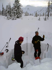 Analyzing snow pits is one of the techniques used to determine snowpack stability.
