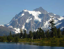 A view of Mt. Shuksan from Picture Lake.