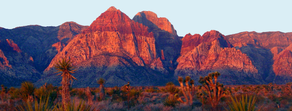 he peaks and formations of Red Rock Canyon just outside of Las Vegas.