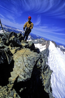 Phenomenal exposure on the Torment-Forbidden Traverse in the North Cascades.