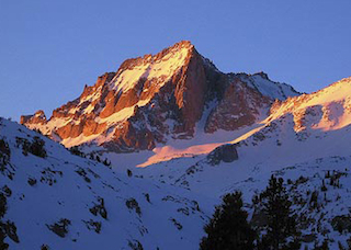 Bear Creek Spire at dawn.