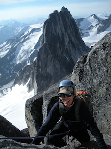 Big smiles on big alpine rock climbs.