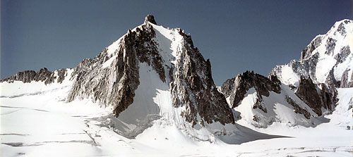 The North Face of Tour Ronde offers steep climbing on mixed rock, snow, and ice.