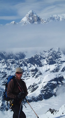 AAI guide Ben Traxler in the heart of the St. Elias Range.