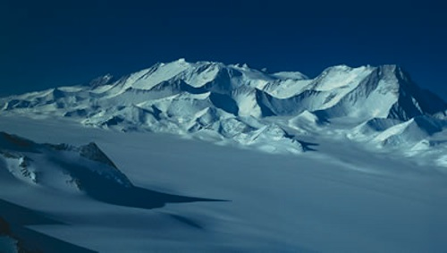 Vinson Massif on the approach to the Ellsworth Mountains.