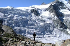 Haute Trek - The Moiry Glacier as we see it on Day 5.