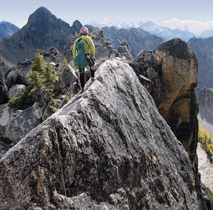 The South Arete of the South Early Winter Spire offers superb climbing and splendid views of the surrounding Cascades.